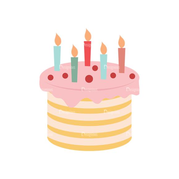 Birthday Party Vector Set 1 Vector Cake Clip Art - SVG & PNG vector