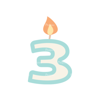 Birthday Party Vector Set 1 Vector Candle 21 Clip Art - SVG & PNG vector