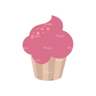 Birthday Party Vector Set 1 Vector Cupcake Clip Art - SVG & PNG vector