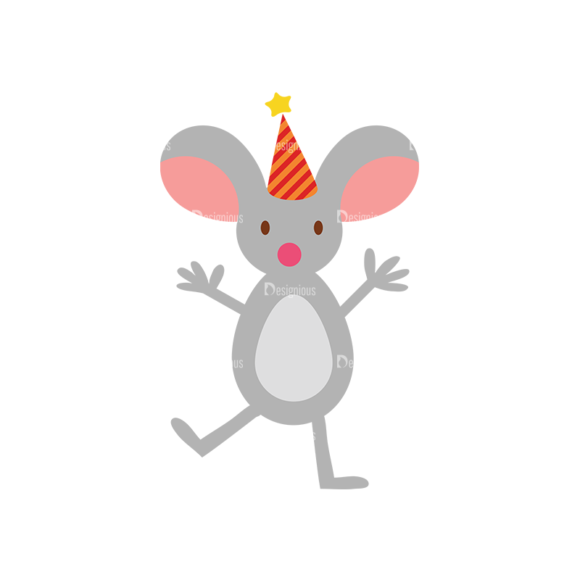 Birthday Party Vector Set 1 Vector Mouse Clip Art - SVG & PNG vector