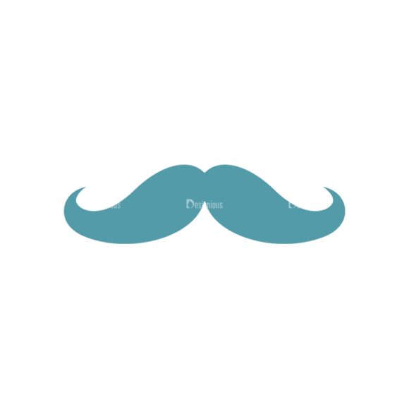 Birthday Party Vector Set 1 Vector Mustache Clip Art - SVG & PNG vector