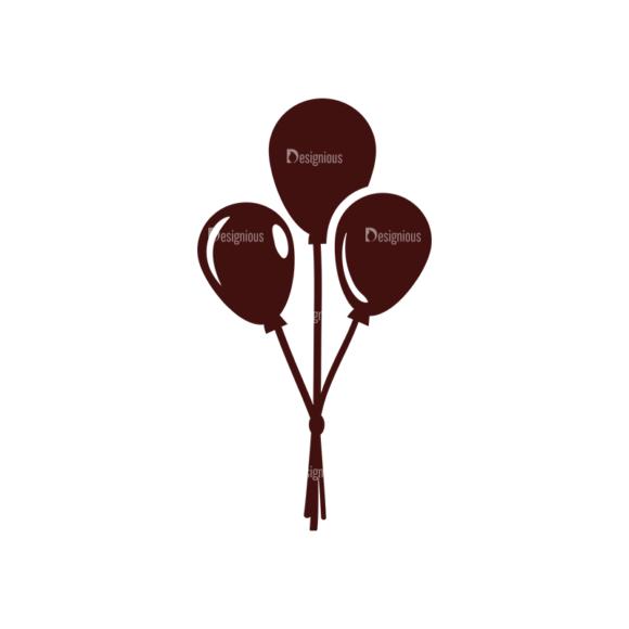 Birthday Vector Elements Set 1 Vector Ballons 15 Clip Art - SVG & PNG vector