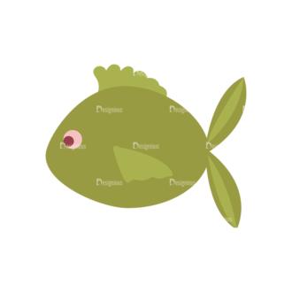 Camping Vector Set 8 Vector Fish Clip Art - SVG & PNG vector