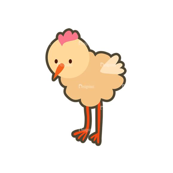 Cartoon Animals Vector Set 1 Vector Chicken 5