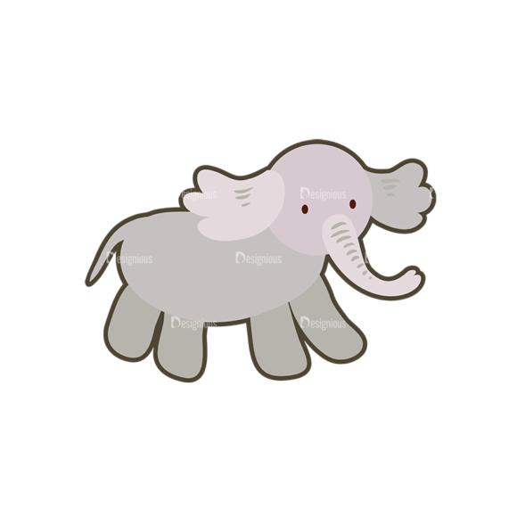 Cartoon Animals Vector Set 1 Vector Elephant 5