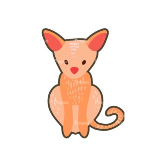 Cartoon Animals Vector Set 1 Vector Fox Clip Art - SVG & PNG vector
