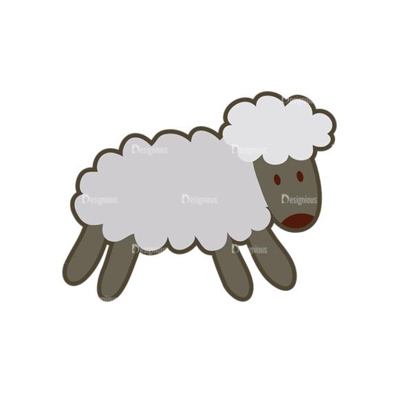 Cartoon Animals Vector Set 1 Vector Sheep cartoon animals vector set 1 vector sheep