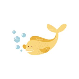 Cartoon Characters Vector Set 5 Vector Fish Clip Art - SVG & PNG vector