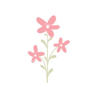 Cartoon Characters Vector Set 5 Vector Flowers Clip Art - SVG & PNG vector