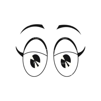 Cartoon Eyes Set 1 Vector Eyes 06 Clip Art - SVG & PNG vector