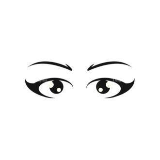 Cartoon Eyes Set 1 Vector Eyes 12 Clip Art - SVG & PNG vector