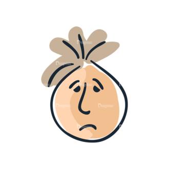 Cartoon Face Expressions Set 4 Vector Face Expression 04 Clip Art - SVG & PNG vector