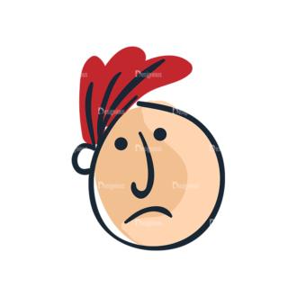 Cartoon Face Expressions Set 4 Vector Face Expression 06 Clip Art - SVG & PNG vector
