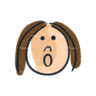 Cartoon Face Expressions Set 4 Vector Face Expression 15 Clip Art - SVG & PNG vector