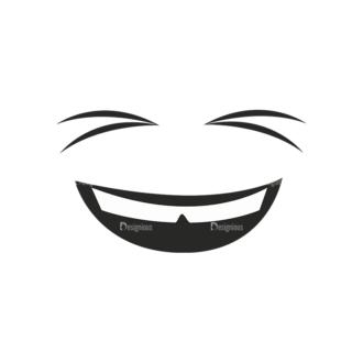Cartoon Face Expressions Vector Set 1 Vector Face Expession 03 Clip Art - SVG & PNG vector