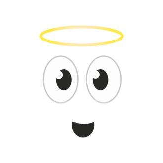 Cartoon Face Expressions Vector Set 1 Vector Face Expession 13 Clip Art - SVG & PNG vector