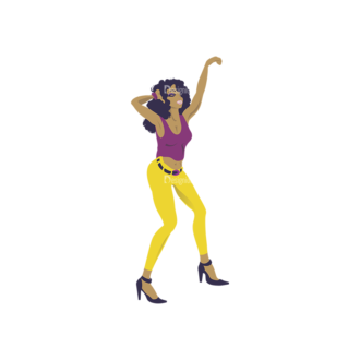 Cartoon Girls Pack 6 Preview Clip Art - SVG & PNG vector