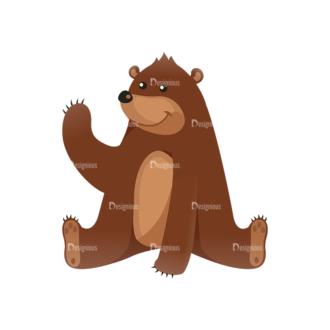 Cartoon Vector Animals Set 1 Vector Bear Clip Art - SVG & PNG vector