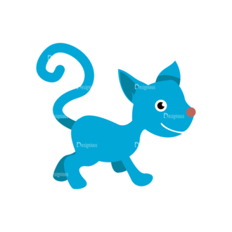 Cartoon Vector Animals Set 1 Vector Cat Clip Art - SVG & PNG vector