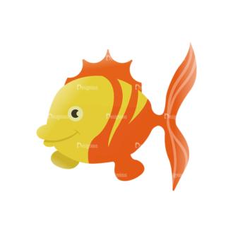 Cartoon Vector Animals Set 1 Vector Fish Clip Art - SVG & PNG vector