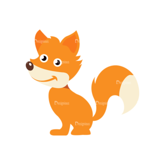 Cartoon Vector Animals Set 1 Vector Fox Clip Art - SVG & PNG vector