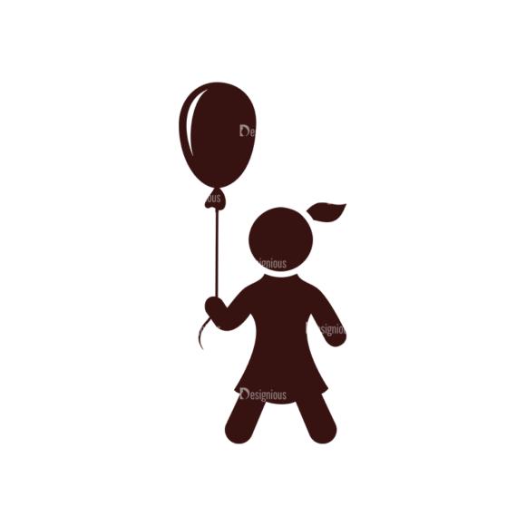 Children Pictogram Icons Vector Set 1 Vector  Child 04 5
