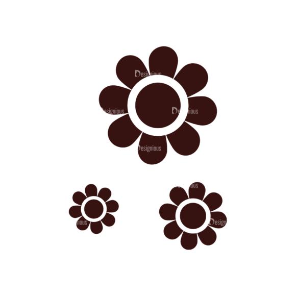 Children Pictogram Icons Vector Set 1 Vector  Flower 5