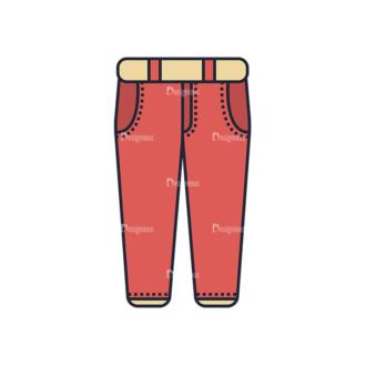 Clothes Vector Set 1 Vector Pants Clip Art - SVG & PNG vector