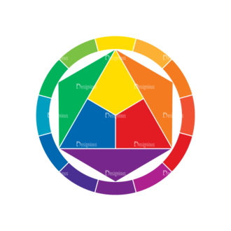 Color Wheel Vector Set Vector Color Wheel 03 Clip Art - SVG & PNG vector