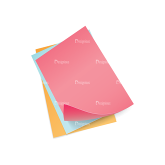 Colorful Paper Sheets Vector Papers 02 Clip Art - SVG & PNG vector