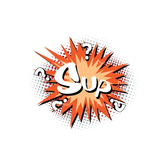 Comic Bubbles 1 Vector Text 21 Clip Art - SVG & PNG vector