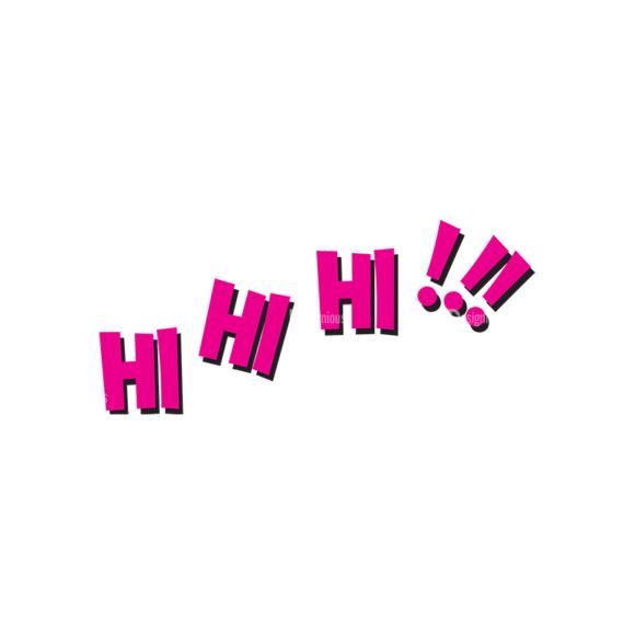 Comic Bubbles 1 Vector Text 25 Clip Art - SVG & PNG vector