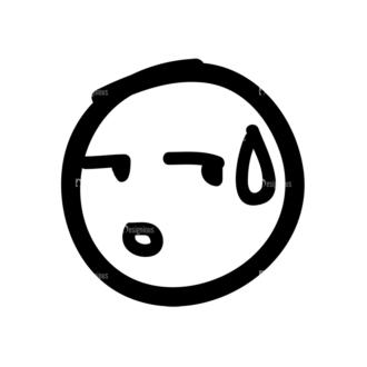 Doodle Emoticons Set 1 Vector Emoji 01 Clip Art - SVG & PNG vector