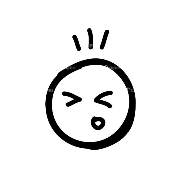 Doodle Emoticons Set 1 Vector Emoji 03 5