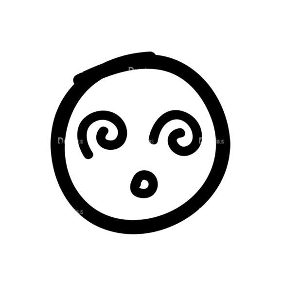 Doodle Emoticons Set 1 Vector Emoji 04 Clip Art - SVG & PNG vector
