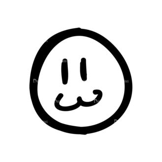 Doodle Emoticons Set 1 Vector Emoji 06 Clip Art - SVG & PNG vector