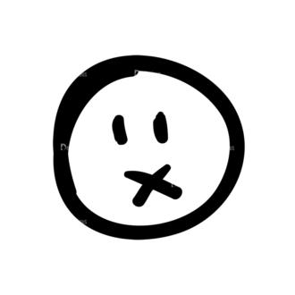 Doodle Emoticons Set 1 Vector Emoji 07 Clip Art - SVG & PNG vector