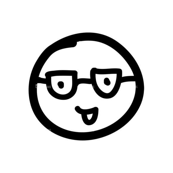 Doodle Emoticons Set 1 Vector Emoji 08 doodle emoticons set 1 vector emoji 08
