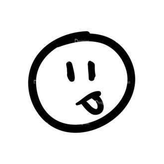 Doodle Emoticons Set 1 Vector Emoji 10 Clip Art - SVG & PNG vector