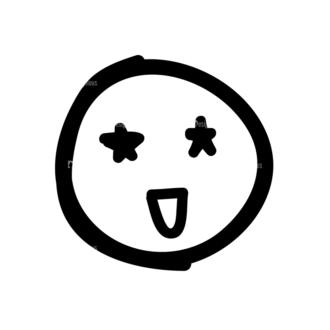 Doodle Emoticons Set 1 Vector Emoji 11 Clip Art - SVG & PNG vector