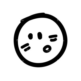 Doodle Emoticons Set 1 Vector Emoji 13 Clip Art - SVG & PNG vector