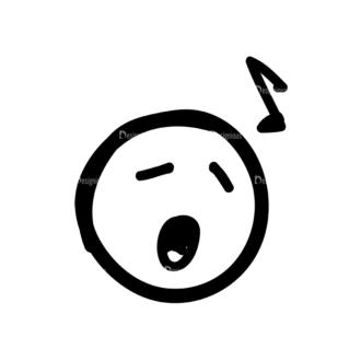 Doodle Emoticons Set 1 Vector Emoji 16 Clip Art - SVG & PNG vector