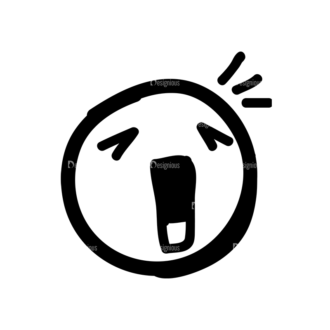 Doodle Emoticons Set 1 Vector Emoji 17 Clip Art - SVG & PNG vector