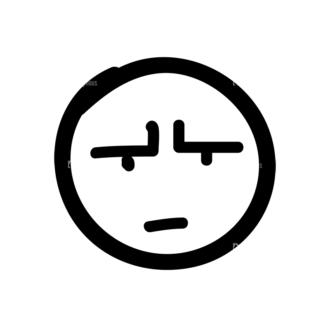 Doodle Emoticons Set 1 Vector Emoji 19 Clip Art - SVG & PNG vector