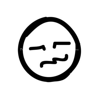 Doodle Emoticons Set 1 Vector Emoji 20 Clip Art - SVG & PNG vector