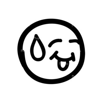 Doodle Emoticons Set 1 Vector Emoji 21 Clip Art - SVG & PNG vector