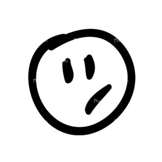Doodle Emoticons Set 1 Vector Emoji 22 Clip Art - SVG & PNG vector