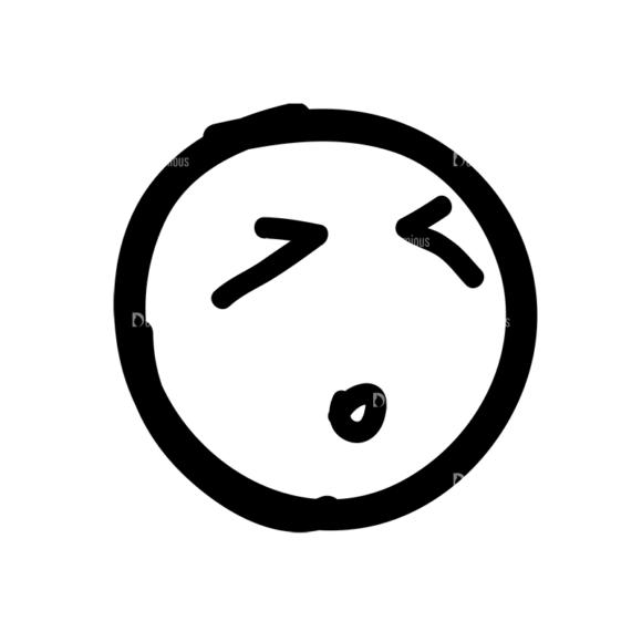 Doodle Emoticons Set 1 Vector Emoji 24 doodle emoticons set 1 vector emoji 24