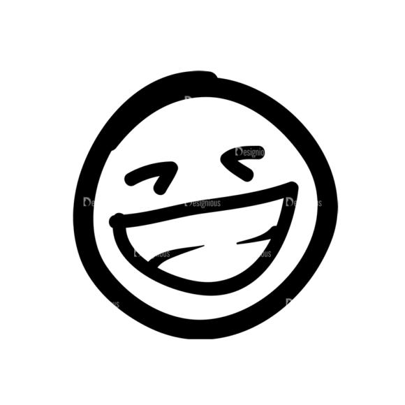 Doodle Emoticons Set 1 Vector Emoji 25 Clip Art - SVG & PNG vector
