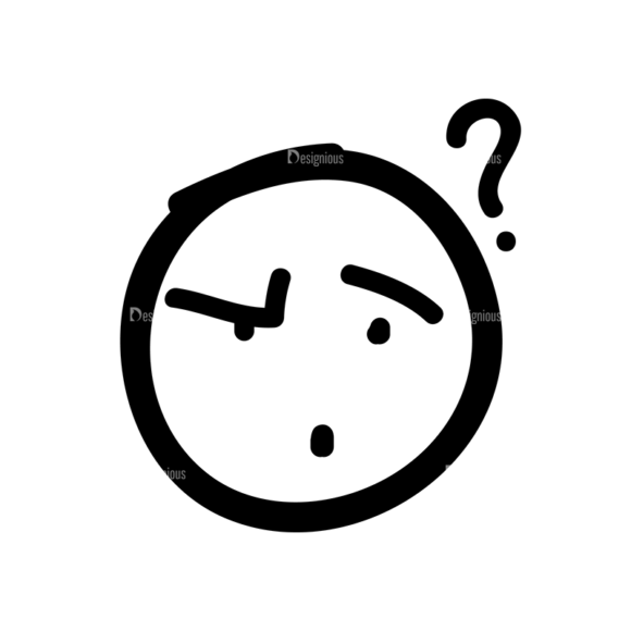 Doodle Emoticons Set 1 Vector Emoji 26 Clip Art - SVG & PNG vector